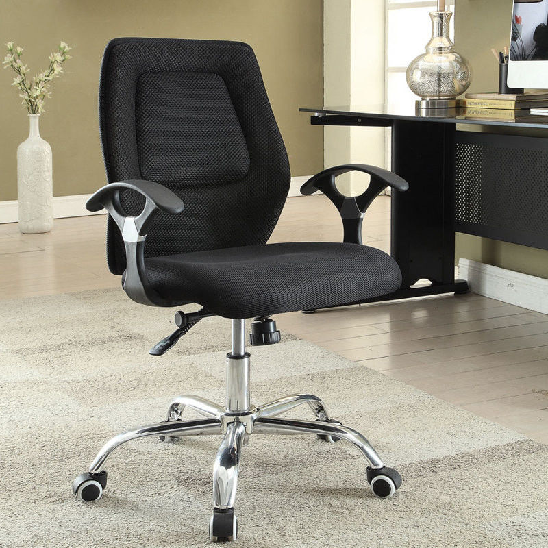 Ergonomic Home Office Computer Chair Adjustable Height With Armrest / Wheels